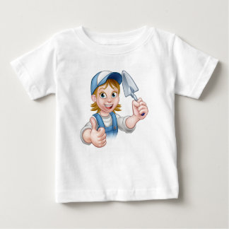 Builder Bricklayer Construction Worker Trowel Tool Baby T-Shirt