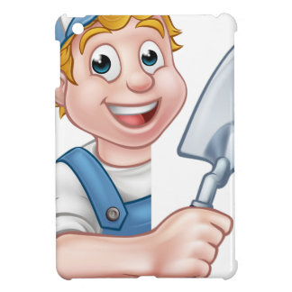 Builder Bricklayer Construction Worker Trowel Tool iPad Mini Cover