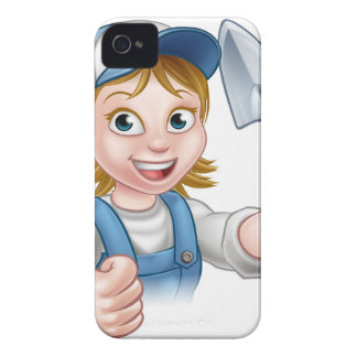 Builder Bricklayer Construction Worker Trowel Tool iPhone 4 Cases