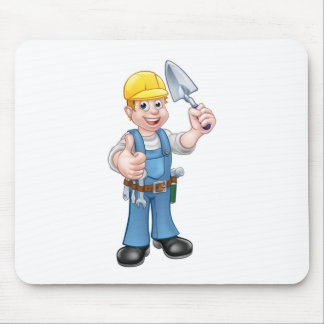 Builder Bricklayer Construction Worker Trowel Tool Mouse Pad