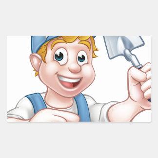 Builder Bricklayer Construction Worker Trowel Tool Sticker