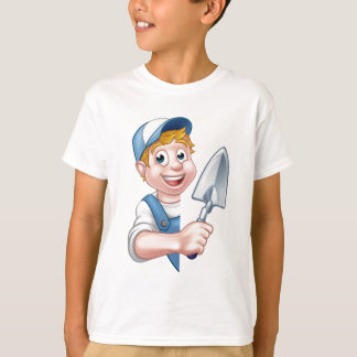 Builder Bricklayer Construction Worker Trowel Tool T-Shirt
