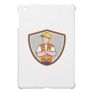 Builder Carpenter Folded Arms Hammer Crest Cartoon Case For The iPad Mini
