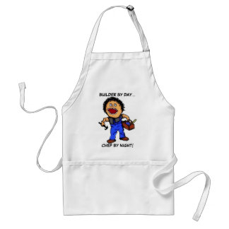 Builder Chef Cartoon Standard Apron