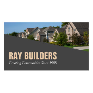 Builder Contractor Construction Business Card