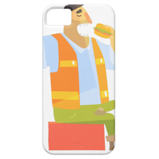Builder Eating Lunch On Construction Site Case For The iPhone 5