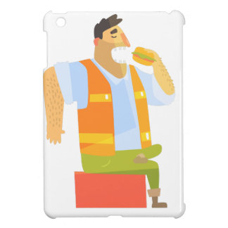 Builder Eating Lunch On Construction Site iPad Mini Cover