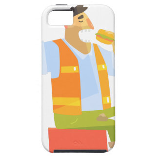 Builder Eating Lunch On Construction Site iPhone 5 Covers