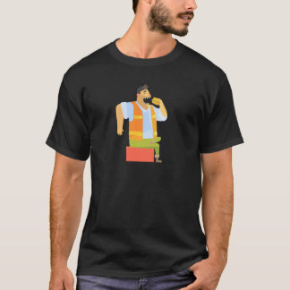 Builder Eating Lunch On Construction Site T-Shirt