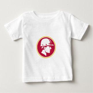 Builder Hardhat Side Circle Retro Baby T-Shirt