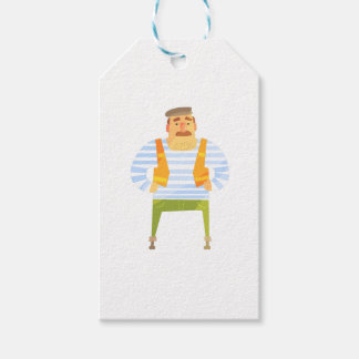 Builder In Cap On Construction Site Gift Tags