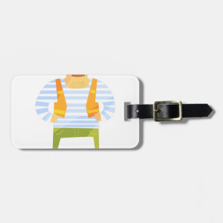 Builder In Cap On Construction Site Luggage Tag