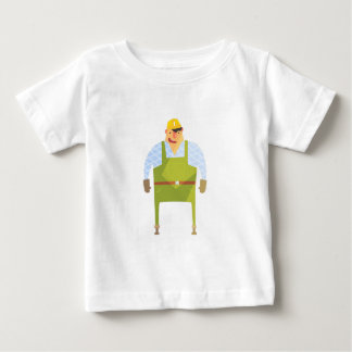 Builder In Hard Hat On Construction Site Baby T-Shirt