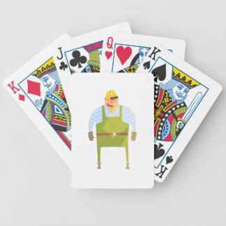 Builder In Hard Hat On Construction Site Bicycle Playing Cards