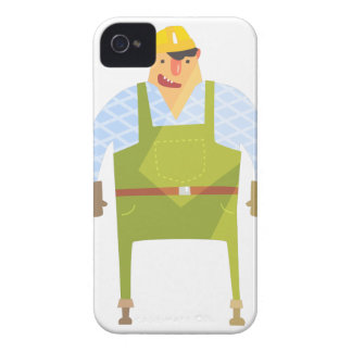 Builder In Hard Hat On Construction Site iPhone 4 Case