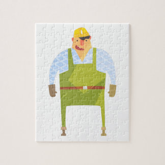 Builder In Hard Hat On Construction Site Jigsaw Puzzle