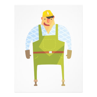 Builder In Hard Hat On Construction Site Letterhead