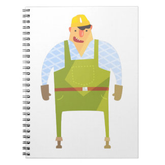 Builder In Hard Hat On Construction Site Notebooks