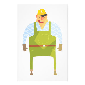 Builder In Hard Hat On Construction Site Stationery