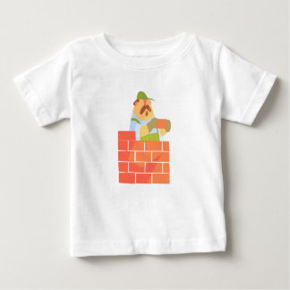 Builder Laying A Brick Wall On Construction Site Baby T-Shirt
