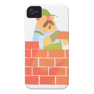 Builder Laying A Brick Wall On Construction Site Case-Mate iPhone 4 Case