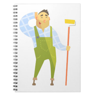 Builder Scratching Head On Construction Site Notebook