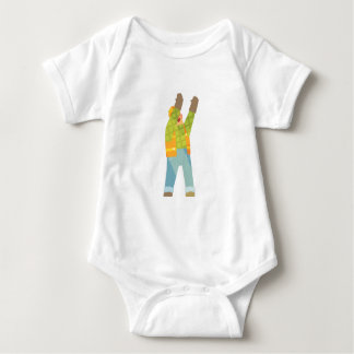 Builder Signaling On Construction Site Baby Bodysuit