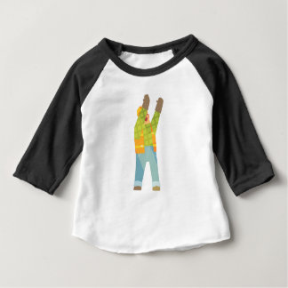 Builder Signaling On Construction Site Baby T-Shirt