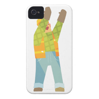 Builder Signaling On Construction Site iPhone 4 Covers