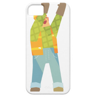Builder Signaling On Construction Site iPhone 5 Cases