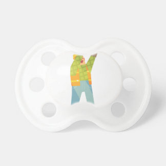 Builder Signaling On Construction Site Pacifier