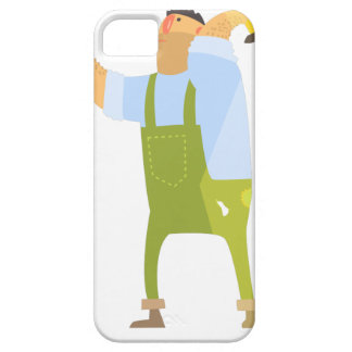 Builder With Hammer And Nails On Construction Site iPhone 5 Case
