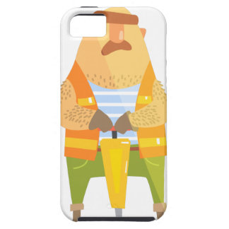 Builder With Jackhammer On Construction Site iPhone 5 Case
