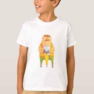 Builder With Jackhammer On Construction Site T-Shirt