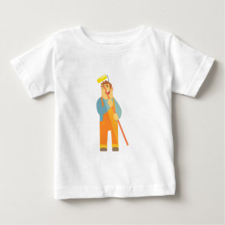 Builder With Painting Roll On Construction Site Baby T-Shirt