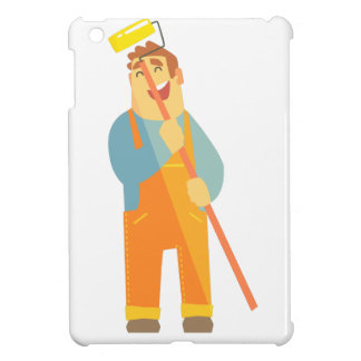 Builder With Painting Roll On Construction Site Case For The iPad Mini
