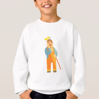 Builder With Painting Roll On Construction Site Sweatshirt