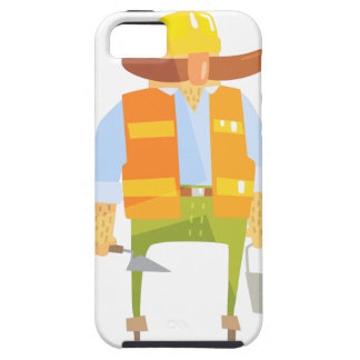 Builder With Trowel And Bucket On Construction iPhone 5 Cover