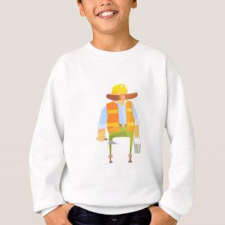Builder With Trowel And Bucket On Construction Sweatshirt
