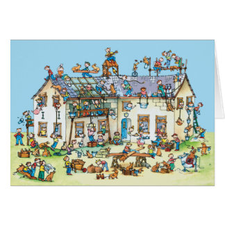 Building a House  -  Children's Greeting card
