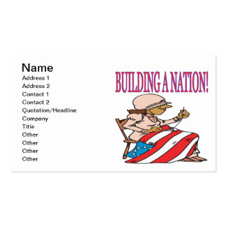 Building A Nation Pack Of Standard Business Cards