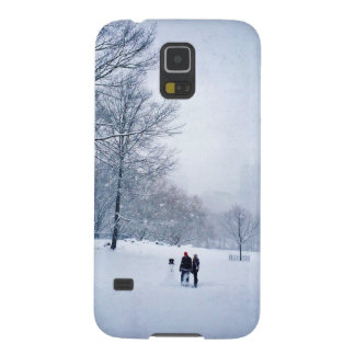 Building A Snowman In Central Park Cases For Galaxy S5