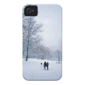 Building A Snowman In Central Park iPhone 4 Case-Mate Case