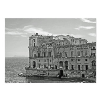 Building and sea photo print