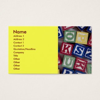 Building Blocks Business Card