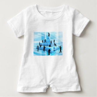 Building Blocks Business Team People Silhouettes Baby Romper