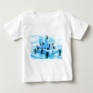 Building Blocks Business Team People Silhouettes Baby T-Shirt