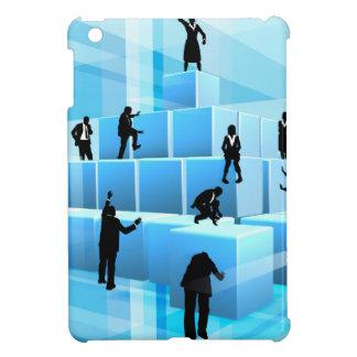 Building Blocks Business Team People Silhouettes iPad Mini Covers