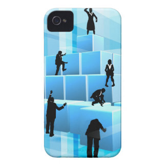 Building Blocks Business Team People Silhouettes iPhone 4 Case-Mate Case