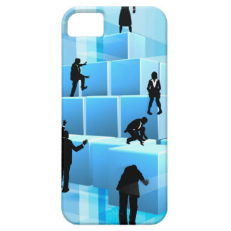 Building Blocks Business Team People Silhouettes iPhone 5 Case